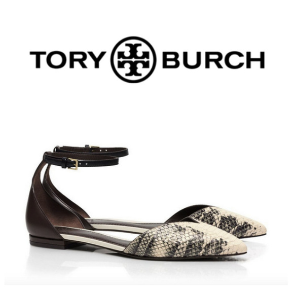 Tory Burch Schuhes   Snake Print Print Snake Vcut Flat With Ankle Strap   Poshmark bf1f9c